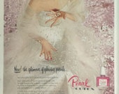 Vintage CUTEX Rose Pearl Lipstick Print Ad 2943
