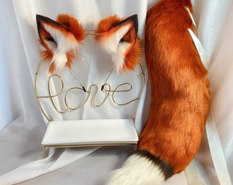 Cat Ears and Tail Cosplay Set Made To Order
