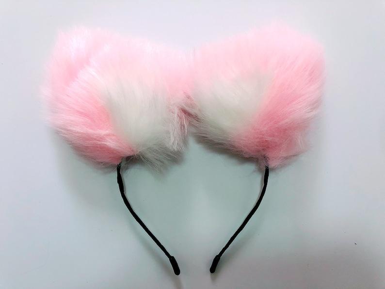 wolf ears-fox ears-cat ears-kitty ears-kitten ears-headband ears-faux ears neko ears cosplay ears fox costume cat costume kawaii fox ears
