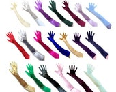 22 quot Stretch Satin Gloves Over Elbow Opera Length Bridal Wedding Halloween Costume