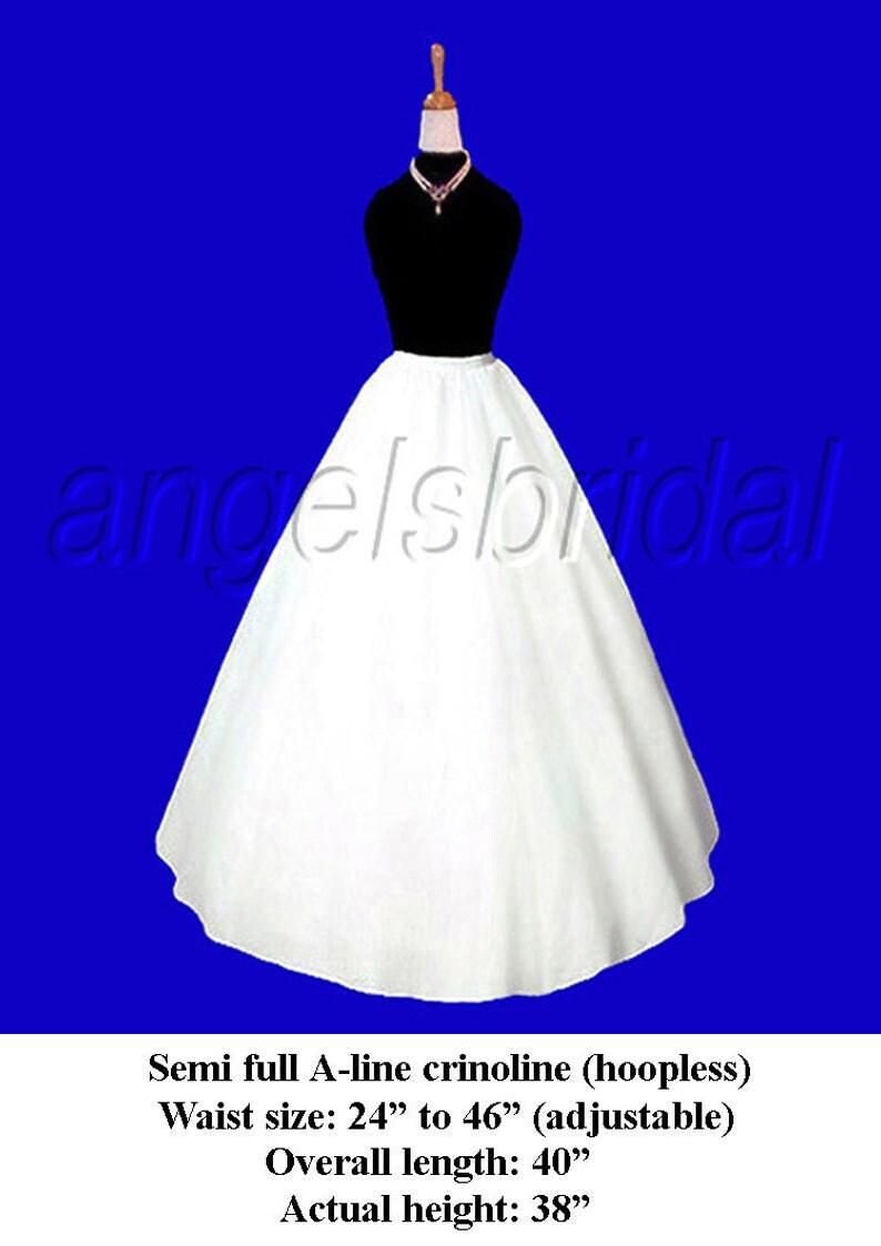 Semi Full A-line Petticoat Crinoline Bridal Wedding Gown Dress image 0