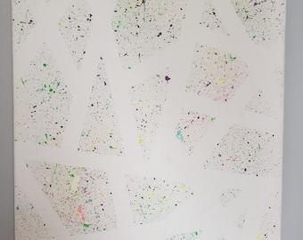 Abstract Splatter Paint Wall Art