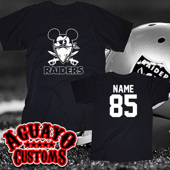 custom raiders shirt