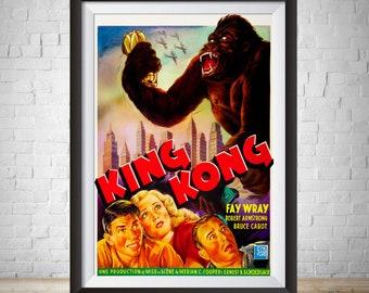 King Kong 1933 Etsy