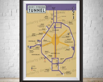 picture about Magic Kingdom Printable Map identify Magic kingdom map Etsy