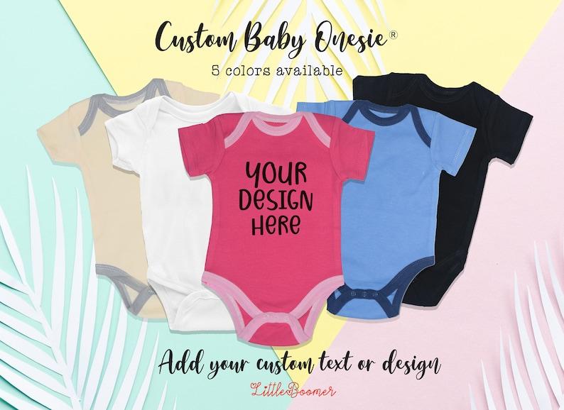 Baby Shower Gift Newborn Announcement Personalized Baby Onesies\u00ae  Custom Baby Onesies\u00ae Custom Baby Clothing Cute Newborn Baby Name