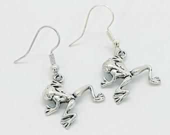 Frog Dangle Earrings, Frog Jewellery, Animal Earrings, Animal Jewellery, Frog Earrings, Frog Gift, Cute Earrings, Animal Gift, Animal Lover