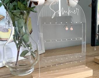 Custom jewellery earring stand acrylic