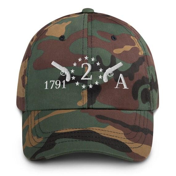 2nd Amendment Embroidered 1791 Cap Camo Dad hat
