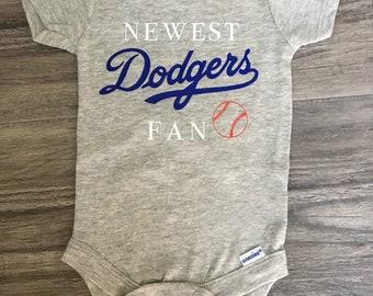Baby bodysuit Newest fan LA Dodgers baseball One Piece jersey personalize