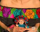 Black Embroidered Mexican Blouse