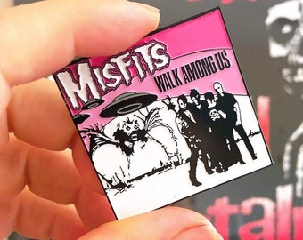 The Misfits Walk Among Us Pin. Pink. Super detailed. Enamel  Pin.