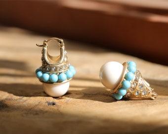 Z8550 24 mm LAVANDE baroque goutte Keshi reborn Pearl Dangle Boucle d/'oreille