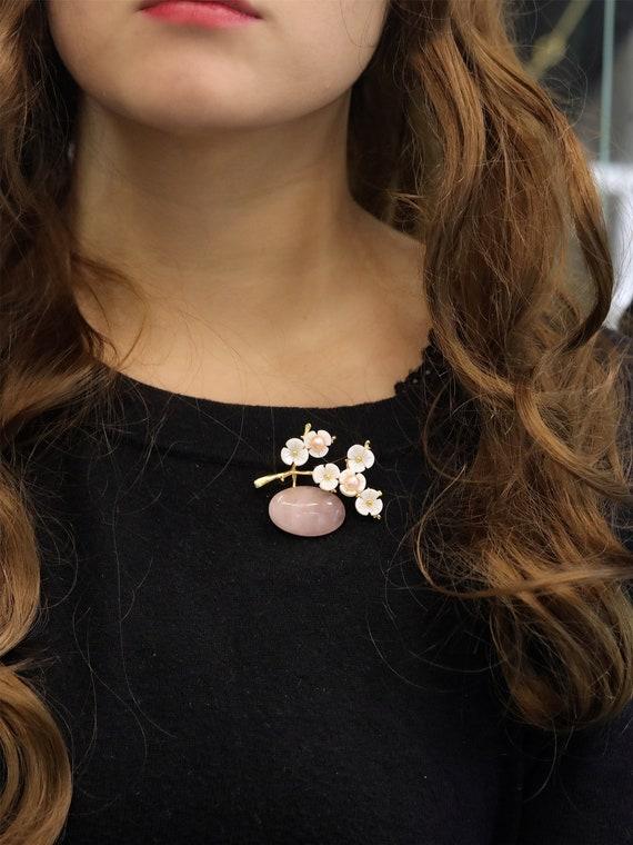 style vintage grosse ovale boucles d/'oreilles avec motif fleurs