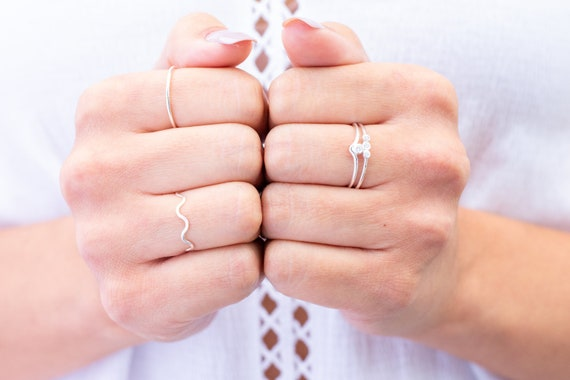 Thin Sterling Silver Ring Sterling Silver Stacking Ring Minimlist Ring Gift for Her Silver Ring Thumb Ring