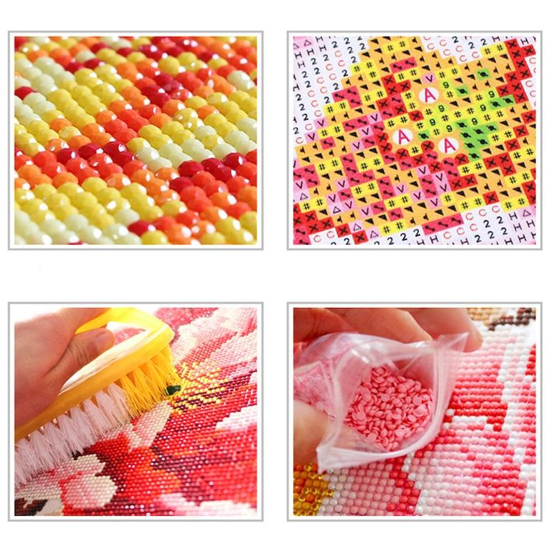 5D Full Drill Sun Flowers Cross Stitch Cute DIY Diamond Painting Kit Crafts Art Stickers Rhinestone Mosaic Diamond Embroidery Home Decor