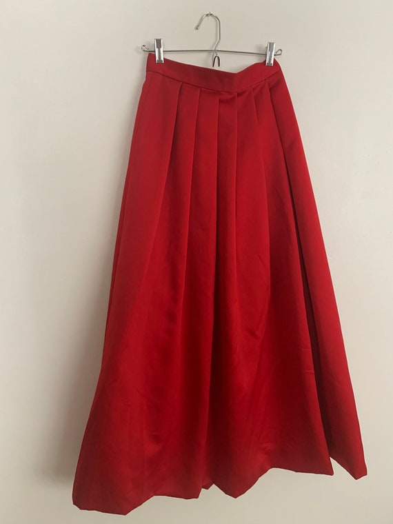 Vintage satin ball gown skirt