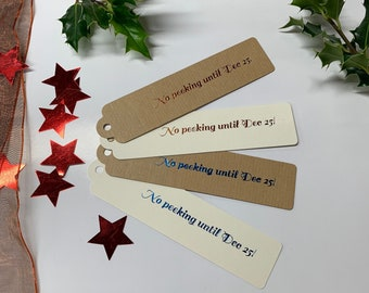 "Pack of 10 Gift Tags /""BLACK BAUBLE/""  Metallic Gold Hand Brushed"