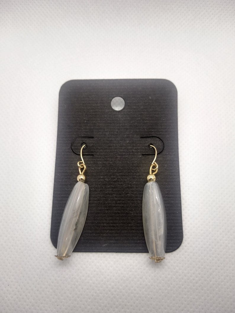 Light Feather Gray Earrings