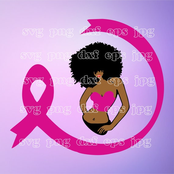 Survivor Svg Pink Ribbon Svg Queen Clipart African American Etsy