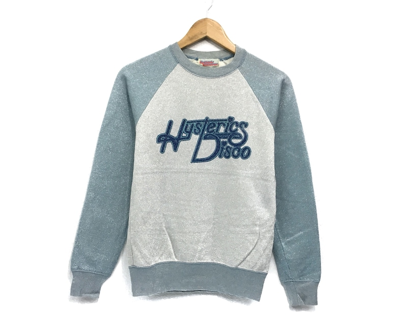 Vintage Hysteric Disco Crewneck Sweatshirt Big Logo Spell Out Pullover  Fashion Style  Japanese Brands  Designer  Small Size