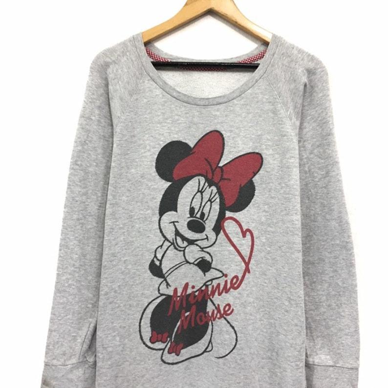 Minnie Mouse Crewneck Sweatshirt Big Logo Sweatshirt  Fashion Style  Streetwear  Small Size  Cartoon Fashion  Walt Disney