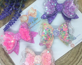 Small star sequin shaker bows