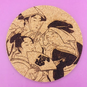 Cork Coaster Japanese Kabuki Woman D one piece