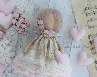 Tilda in country style Ehtnic doll Boho chic gift