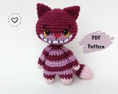 Crochet Pattern Amigurumi Cheshire Cat Alice in Wonderland PDF English