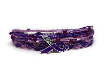 In Support of Loved Ones Battling Cancer,Fund Raising Pancreatic Cancer Awareness Bracelets Gift By Mabuhay Bracelets/® LOVE HOPE FAITH