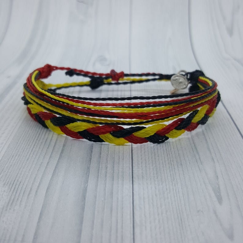 Gift for her Gift for him Germany,Patriotic Bracelet By Mabuhay Bracelets\u00ae