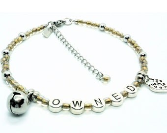 Owned Anklet with Ringing Bell and Lock Charm