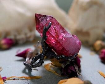Ostara Galaxy Aura Quartz Gothic Thorn Ring