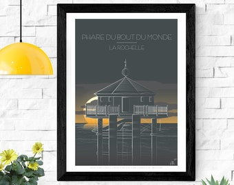 Poster, illustration The Lighthouse at the End of the World, La Rochelle