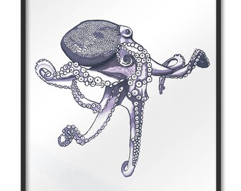 Ecological paper illustration octopus octopus