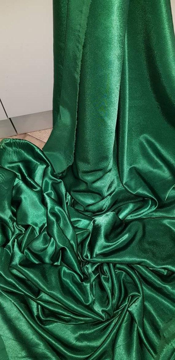 "2M TEAL GREEN  DRESS  SATIN FABRIC..58/""  WIDE"
