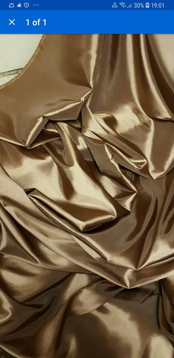 Dark goldenrod Two tone SATIN Fabric costume Curtain Material wedding decoration