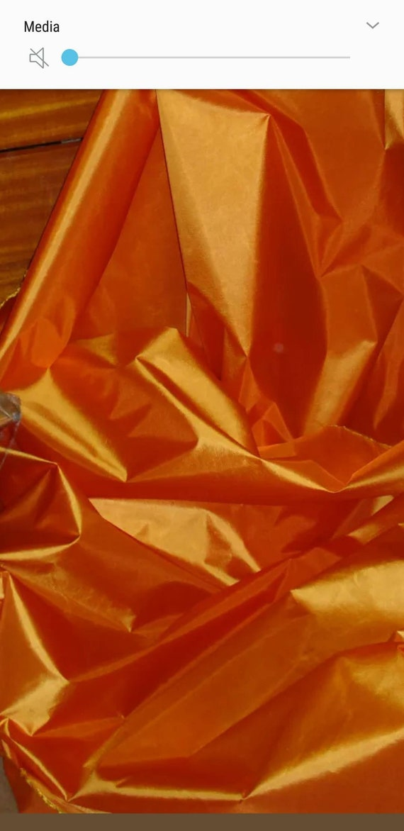 """58/"""" Wide Sold by the yard Taffeta Solid Fabric SUNSET ORANGE"""
