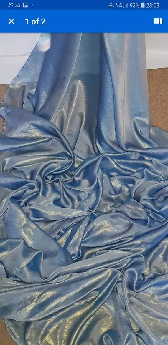 """1M NEW  baby pink silver shimmer  SHIMMER  DRESS CHIFFON FABRIC 58/"""" WIDE"""
