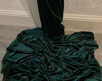 """1m bottle green velour  velvet  fabric 58"""" wide"""