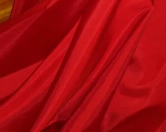 "1M red taffeta fabric 58"" wide"