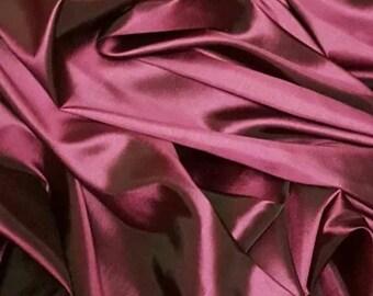 "1M fuscia pink taffeta fabric 58"" wide"
