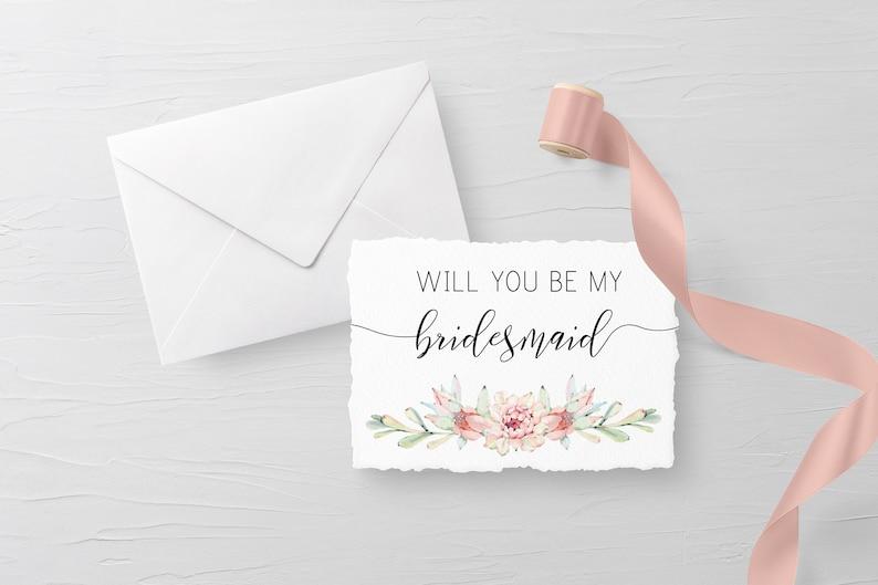 Rustic Will You Be My Bridesmaid Card Floral Bridesmaid Proposal Be My Bridesmaid Card Rustic Bridesmaid Gift Bridesmaid Box