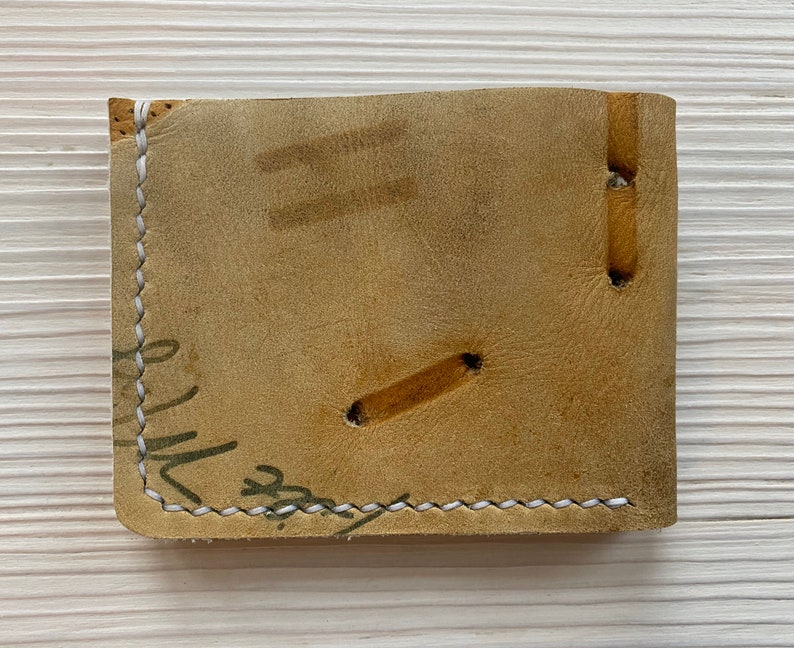 Gifts for Him Dave Concepcion Baseball Glove Leather Bifold Wallet Cincinnati Reds Reclaimed Minimalist Baseball Glove Wallet