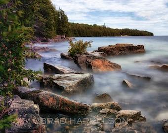 Original CANVAS Print - Lake Forest Long Exposure Canada