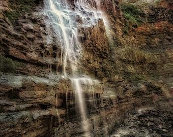 Original METAL Print - Colorful Waterfall Long Exposure Canada