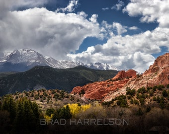 Original METAL Print - Colorado Mountain Landscape