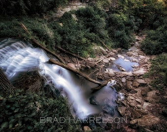 Original METAL Print - Waterfall Forest Long Exposure Canada