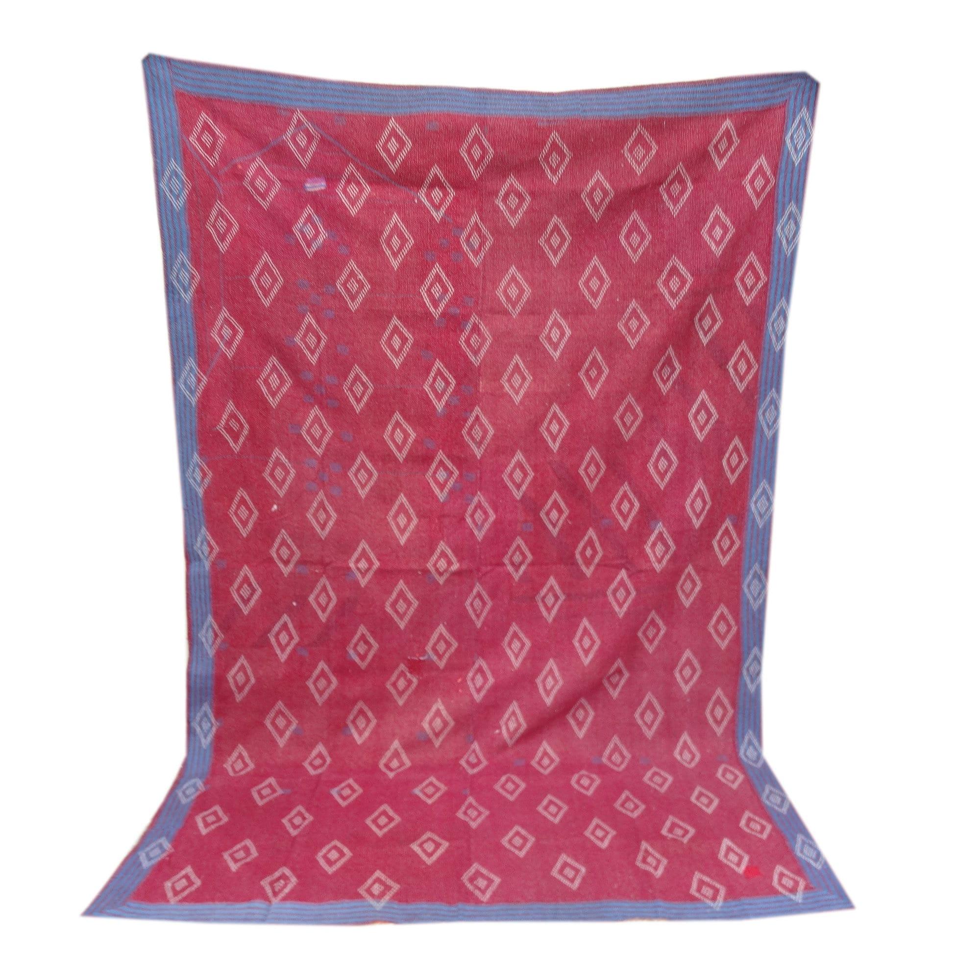 Vintage Indien Saris Main Stitched Kantha Quilt